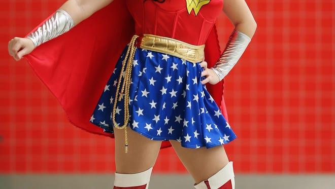 Jane Stewart as Wonder Woman.