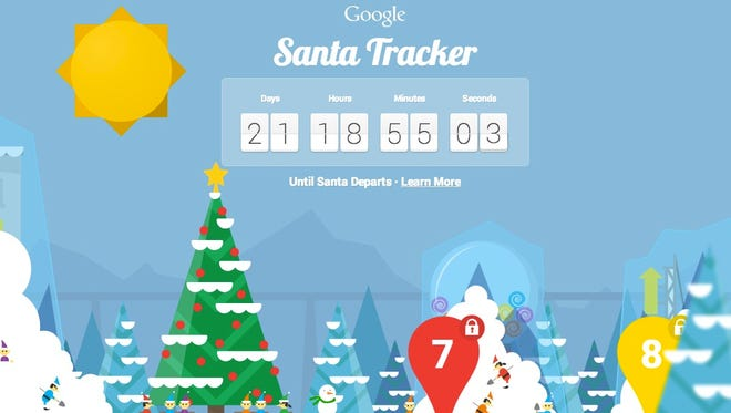The Google Santa Tracker allows you to get a call from Santa, play games and trim St. Nick's beard, among other things.