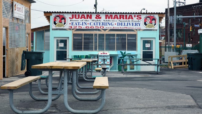 Juan & Maria's Empanada Stop is one of the food vendors housed in converted shipping containers at the Rochester Public Market