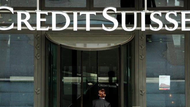 Credit Suisse bank bank in Zurich.