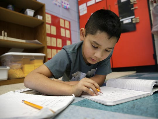 Ruben Trejo Munoz, a second-grader at Banta Elementary