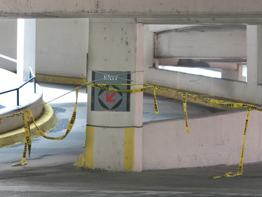 The old Pogue's garage is closed above the sixth floor.