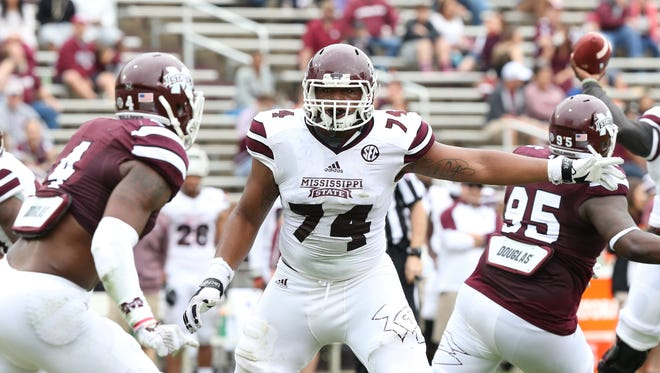 Elgton Jenkins will play a major role for Mississippi State.