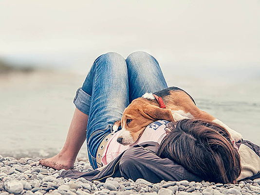 Girl and pet