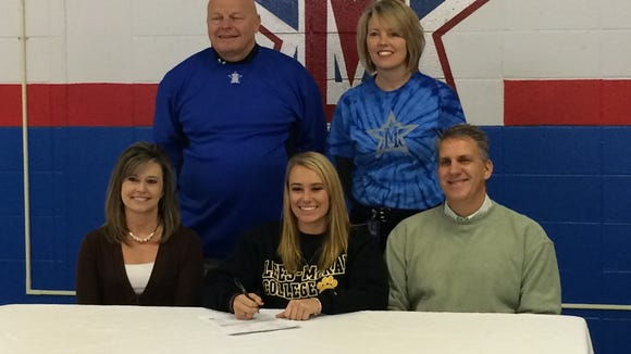 McDowell's Karly McRary has signed to play college softball for Lees-McRae.