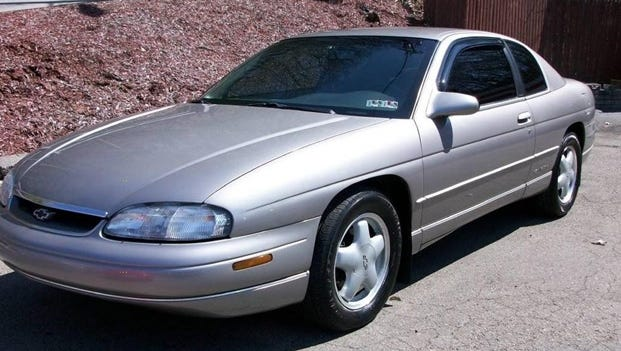 Preble County Sheriff's Department is searching for a vehicle similar to this one in connection to a New Paris, Ohio, homicide. They are looking for a grey 1997 Chevrolet Monte Carlo with Ohio license plate EEN3387.