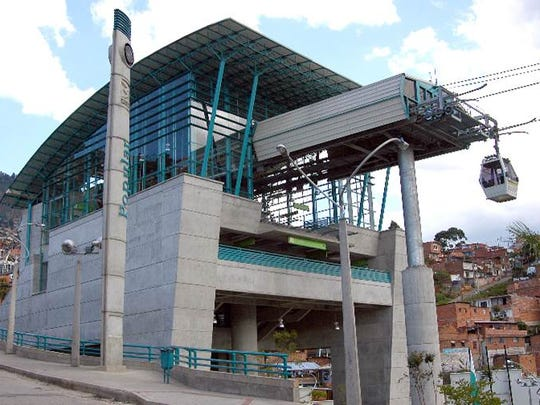 A terminal for a gondola lift in South America.