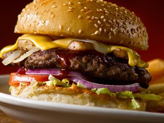 A featured cheeseburger at Texas Roadhouse.