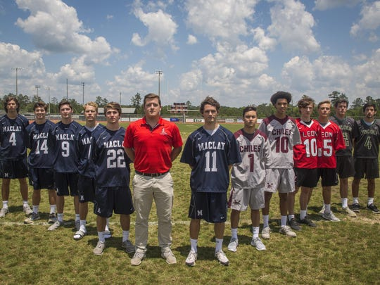 The 2016 All-Big Bend lacrosse first team. From left,