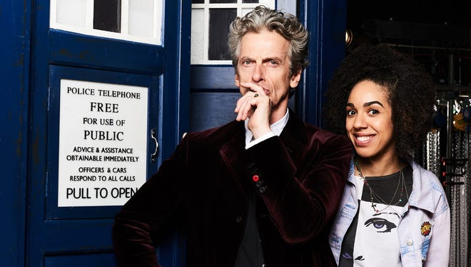 Peter Capaldi, left, seen here with 'Doctor Who' co-star Pearl Mackie.