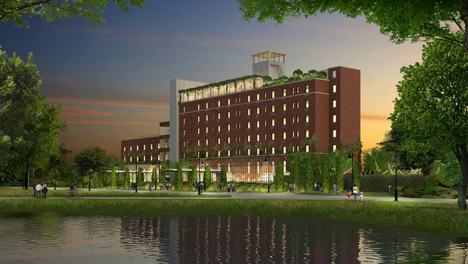 A rendering of the new Asbury Hotel.