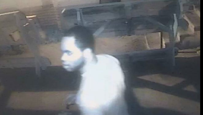 Tallahassee Police says this is one of the men they are seeking in connection with an armed robbery of Seminole Discount Liquors in mid-January. This photo was taken by an area security camera immediately before or after the robbery, police say.