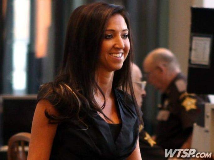 Sarah Jones, former Dixie Heights High School teacher and Cincinnati Ben-Gal cheerleader appears in court in 2012.