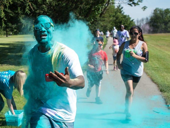 Hundreds enjoyed a color run and Meridian's CityFit