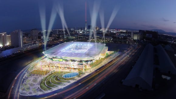 Las Vegas previously made a push to be awarded a Major League Soccer franchise. Architect Dan Meis designed a stadium concept for that city's bid.