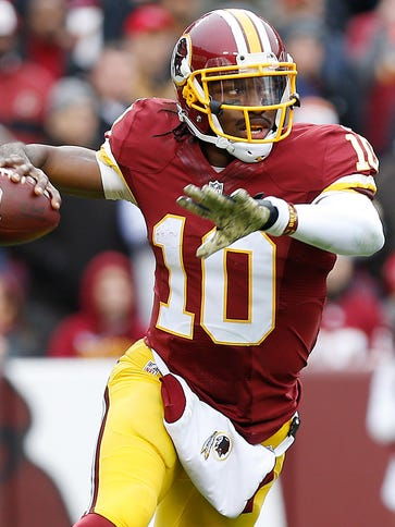 Redskins QB Robert Griffin III has lost 75% of his