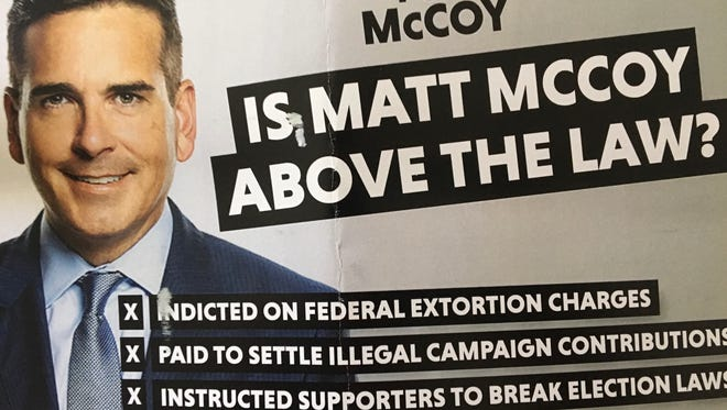 Title Flight, a company owned by Lou McDonald, paid for this mailer critical of Polk County supervisor candidate Matt McCoy.