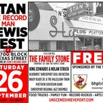 "Music festival tribute to Stan ""The Record Man"" Lewis Saturday"