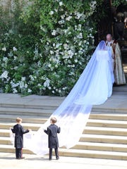 Meghan Markle's wedding day look featured a veil that