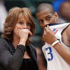 Nancy Lieberman is seen in this photo coaching the Texas Legends.