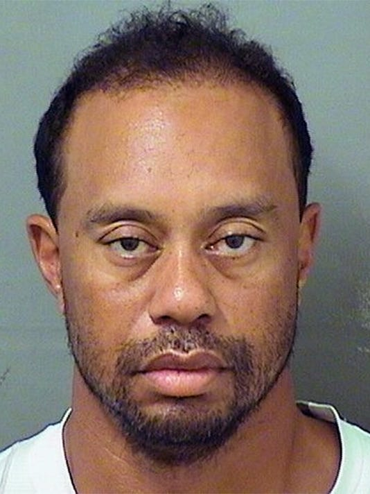 A Tiger Woods Booking Photo