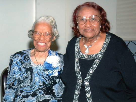 Ruth Benn, right, and her best friend Lois Kelly, who