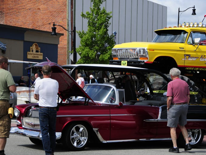 Doug Peltier's 1955 Chevroley Bel Air draws attention