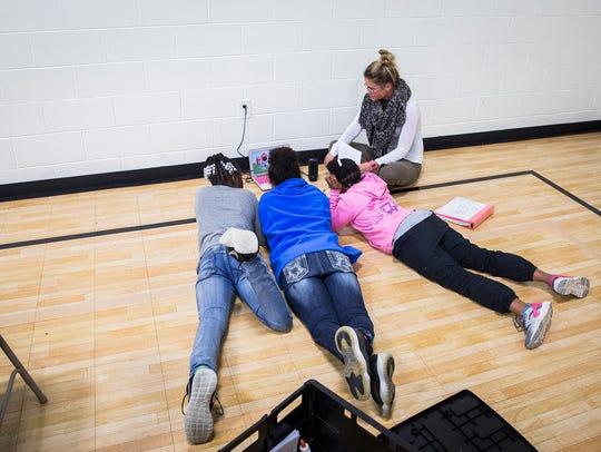 Ball State teaching majors guide children through a