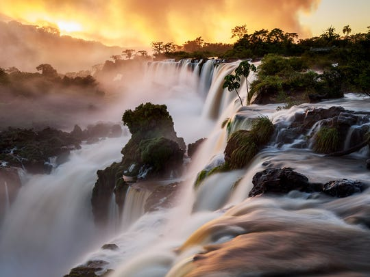 'Sunrise at Cataratas de Iguazu' by Gerhard Hὒdepohl of Chile won the Photographic Society of America's bronze medal for large color print in the 2018 Wilmington International Exhibition of Photography.