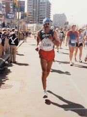 In this photo, owned by Tony Sifuentes, the longtime El Paso runner has competed in many races, including the 1996 Boston Marathon, which he ran four times.