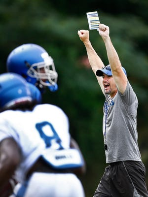 University of Memphis head football coach Mike Norvell (right) now has three prospects from Oklahoma.