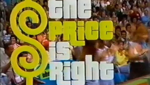 """Original 1970s logo of """"The Price is Right."""""""
