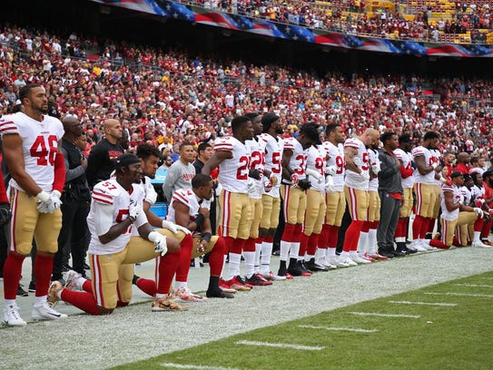 Player protests during the national anthem was a hot-button