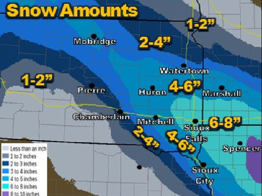 Heavy snow is expected Monday.