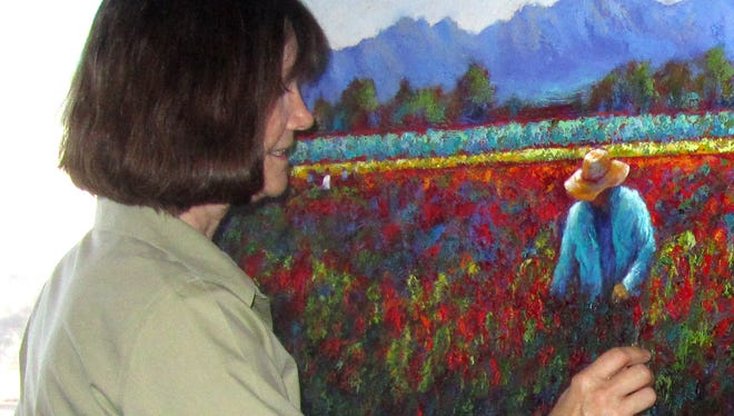 "The works of artist Jeri Desrochers are featured in the ""Now You're Home"" benefit exhibit at Unsettled Gallery."