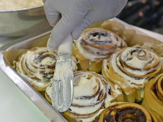 Cinnabon will have its grand opening at the Cumberland
