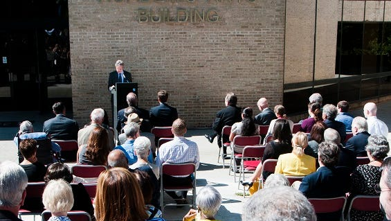 Dedication of the Hankin Academic Arts Building at Westchester Community College.