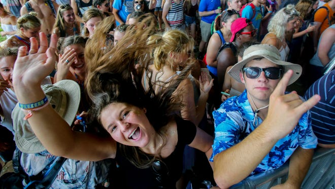 Scott Utterback/The courier-journalFans go crazy Friday as Tourist performs on the Forecastle Festival?s Ocean stage.The crowd goes crazy as Tourist performs on the Ocean stage.July 15, 2016