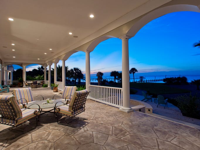 The mammoth sized veranda spans the entire back of