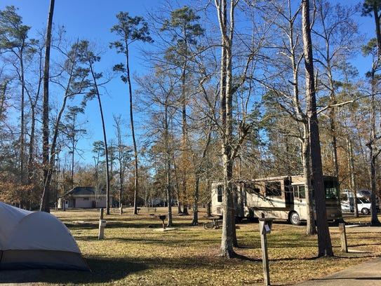 Tent and RV camping are options for overnight stays