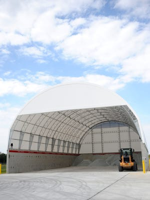 The salt structure at the new ODOT garage is capable of housing up to 6,000 tons of salt for the Crawford County roads.