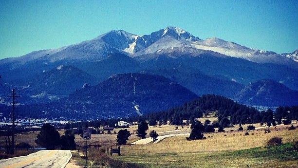"""Reporter Trevor Hughes too this photo from Estes Park, Colo., on Sept. 24. """"Beauty amidst devastation in Colorado,"""" he wrote."""