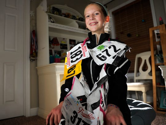 Gabrielle Boulay recently won a national cross country race for 10-year-old girls.