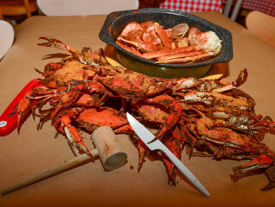 Many restaurants on Delmarva offer crab feasts, or you can buy them on the market and do it yourself.