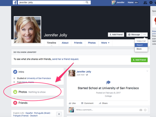 Facebook clone- Fake page