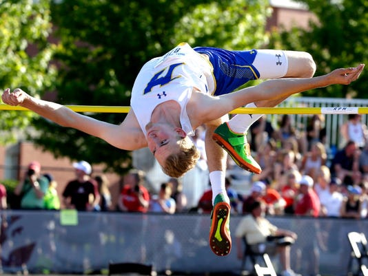 Dybul takes third in high jump