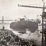 THEN: The USS Arizona is christened on June 19, 1915, at the Brooklyn Navy Yard. It would be sunk by the Japanese at Pearl Harbor, leading the United States into World War II.