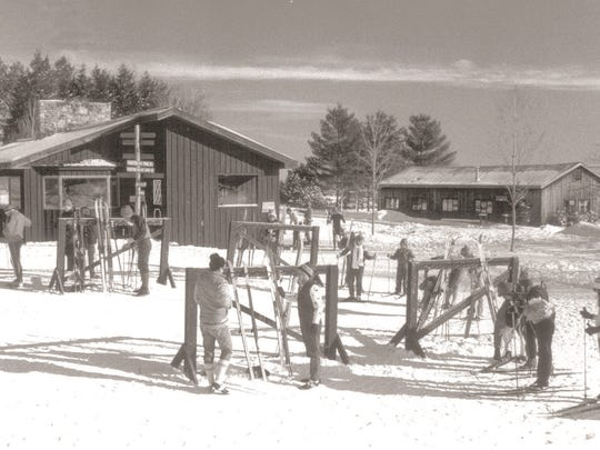 Historic view of the Trapp Family Lodge Cross-Country Ski Center.
