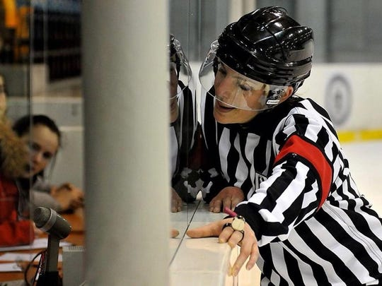 Melissa Szkola was certified as an international referee in 2010. She'll be working the women't hockey tournament in Pyeongchang this month.