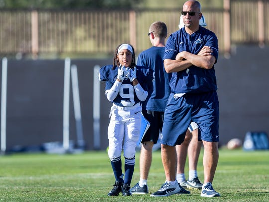 Penn State coach James Franklin and his daughter Shola,